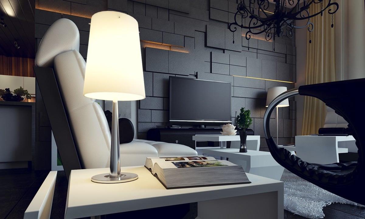 Gefällt Ihnen dieser Look für Ihr Wohnzimmer - finden Sie noch viele tolle Idee für Wandverkleifung hier!