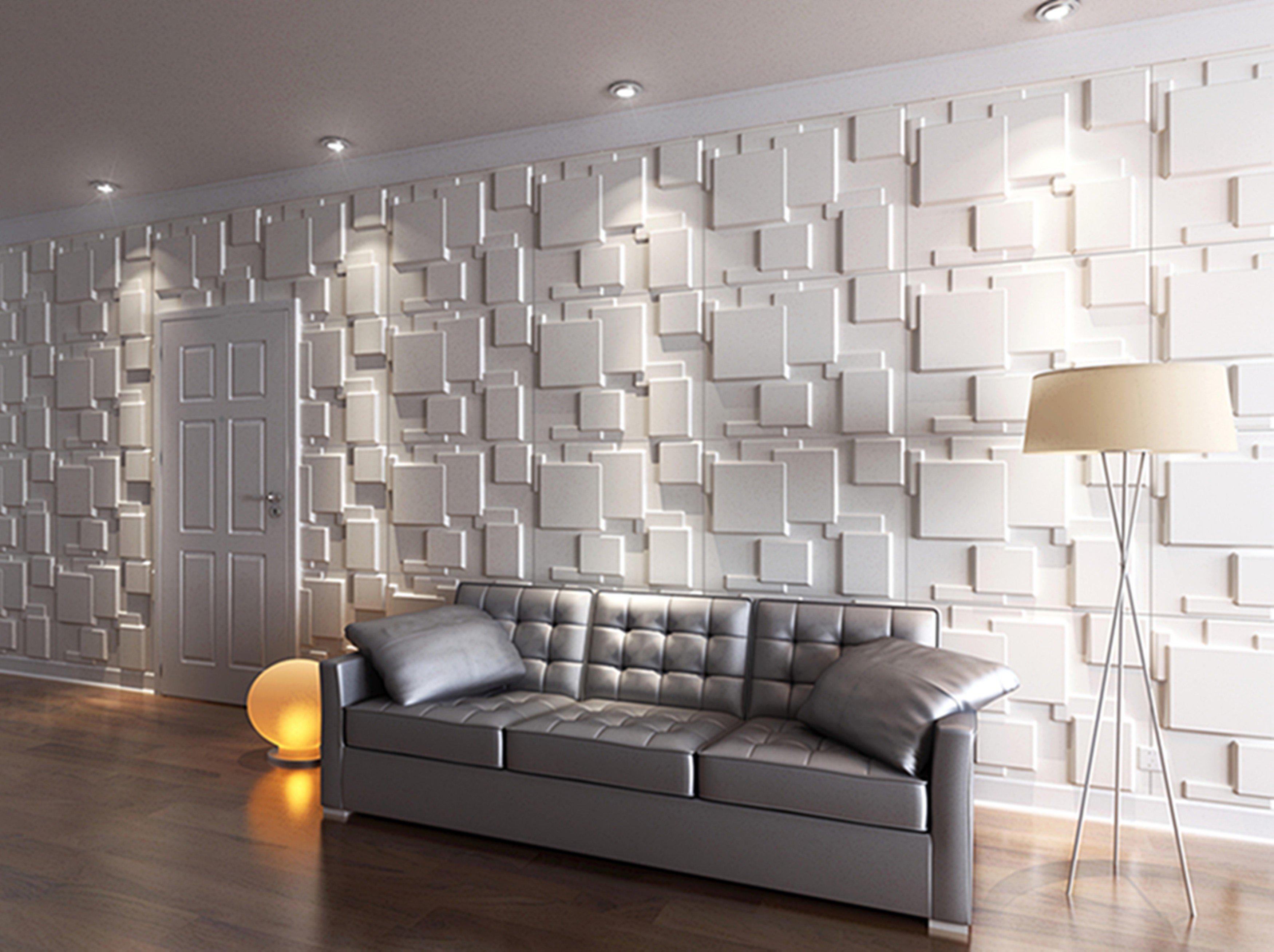 Gefällt Ihnen dieser 3D Effekt mit dieser Wandverkleidung Kunststoff