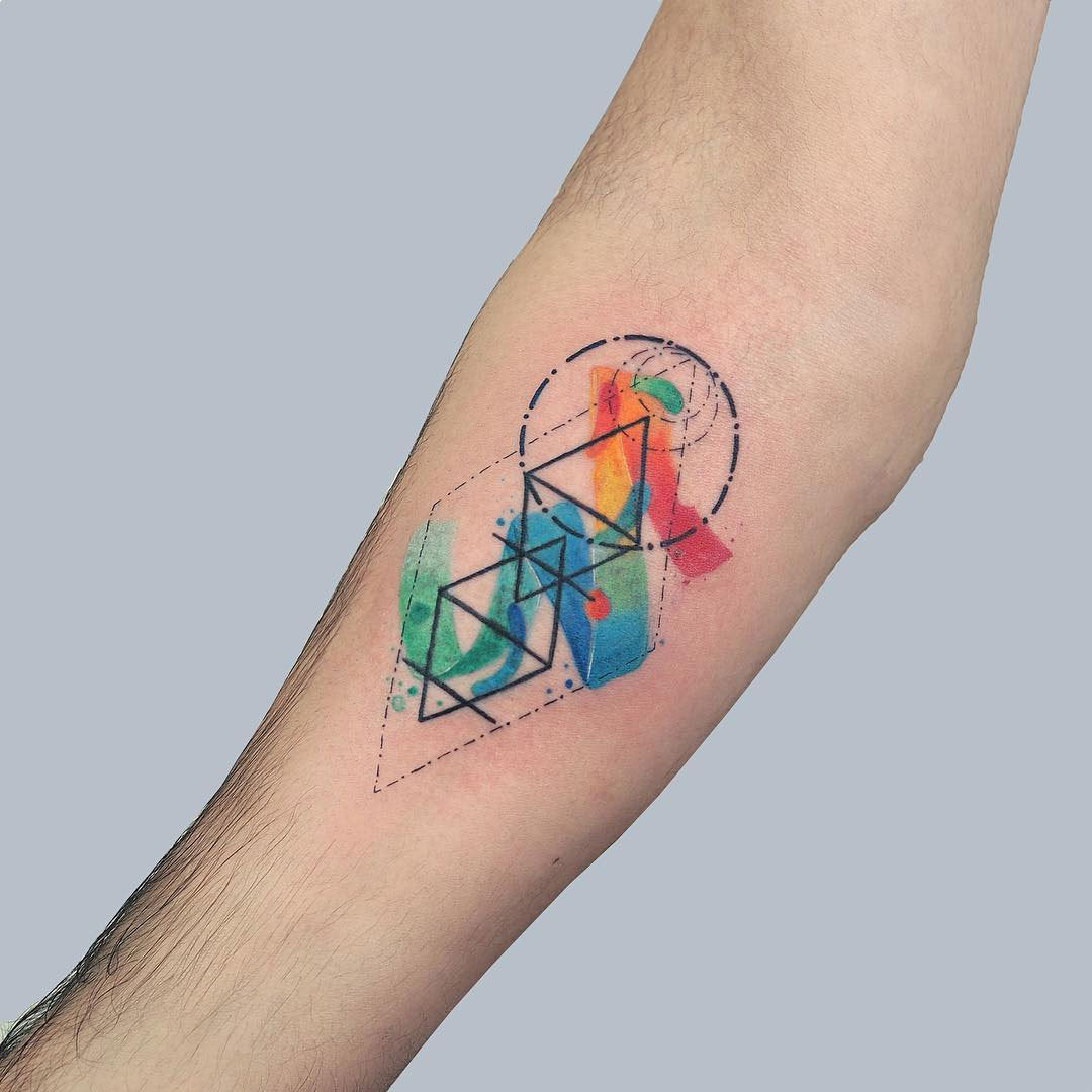 Sind die Aquarell Tattoos haltbar?