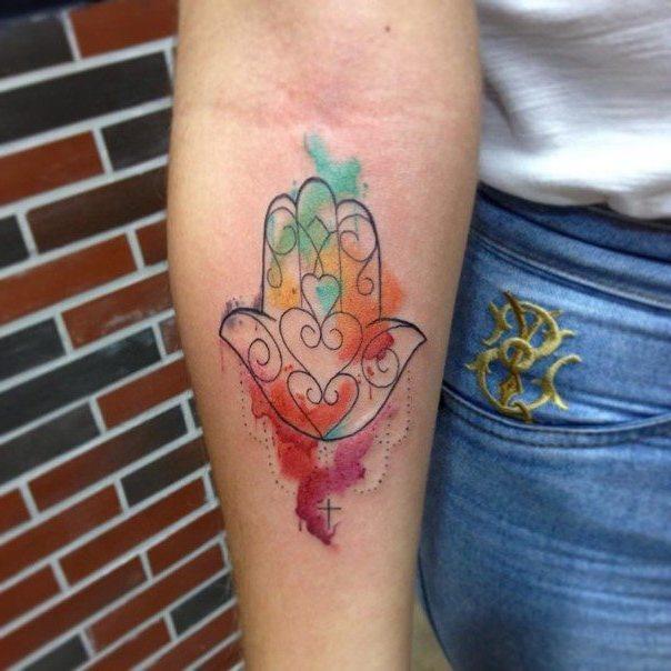 Schöne Tattoos mit Wasserfarben