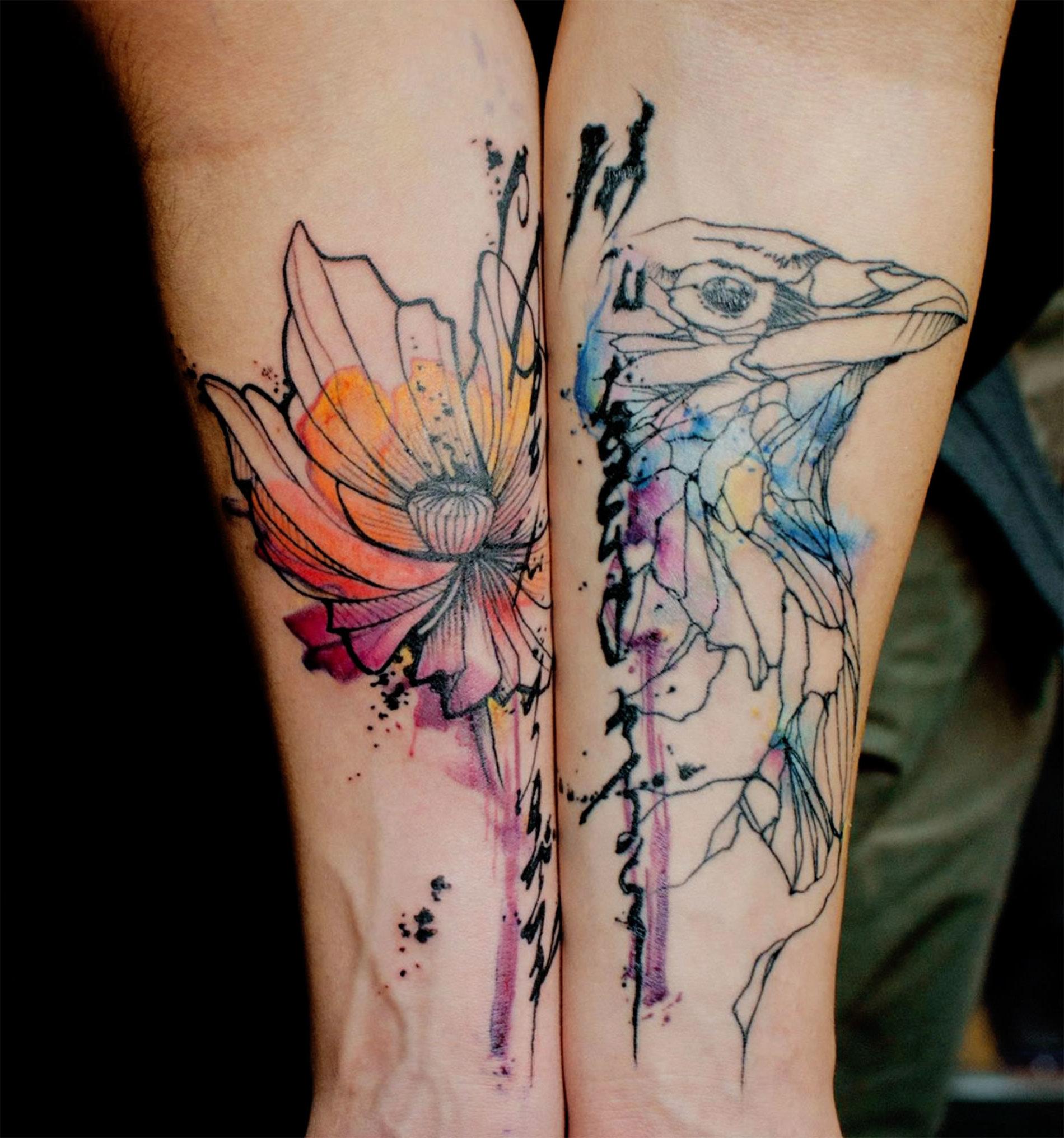 Watercolor Tattoo - es wird bunt auf der Haut!
