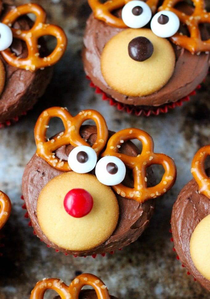 Weihnachtsgeschenke selber machen - Muffins mit Weihnachtsmotive
