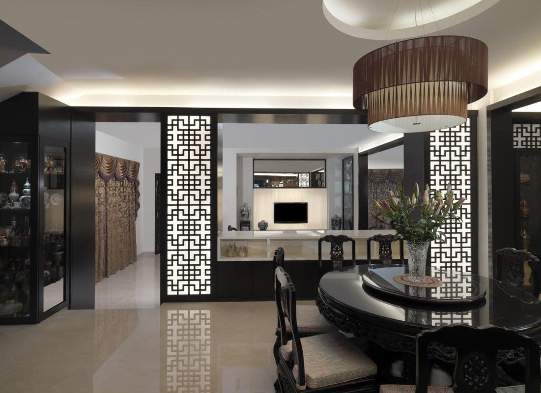 Die Wohnungseinrichtung im asiatischen Stil wird Ihnen mit der Kombination von den Pastellfarben des japanischen Looks, die Papierwände, die von China geprägt sind, und Nepals Mustern faszinieren.