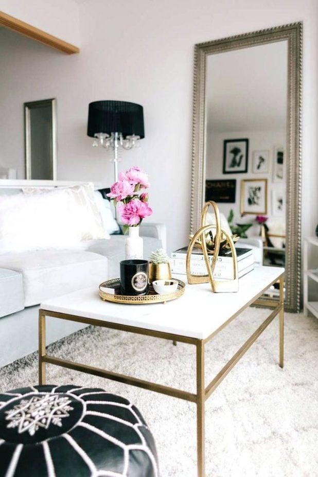 Der goldene Touch peppt Ihre Wohnungseinrichtung besonders gut aus.