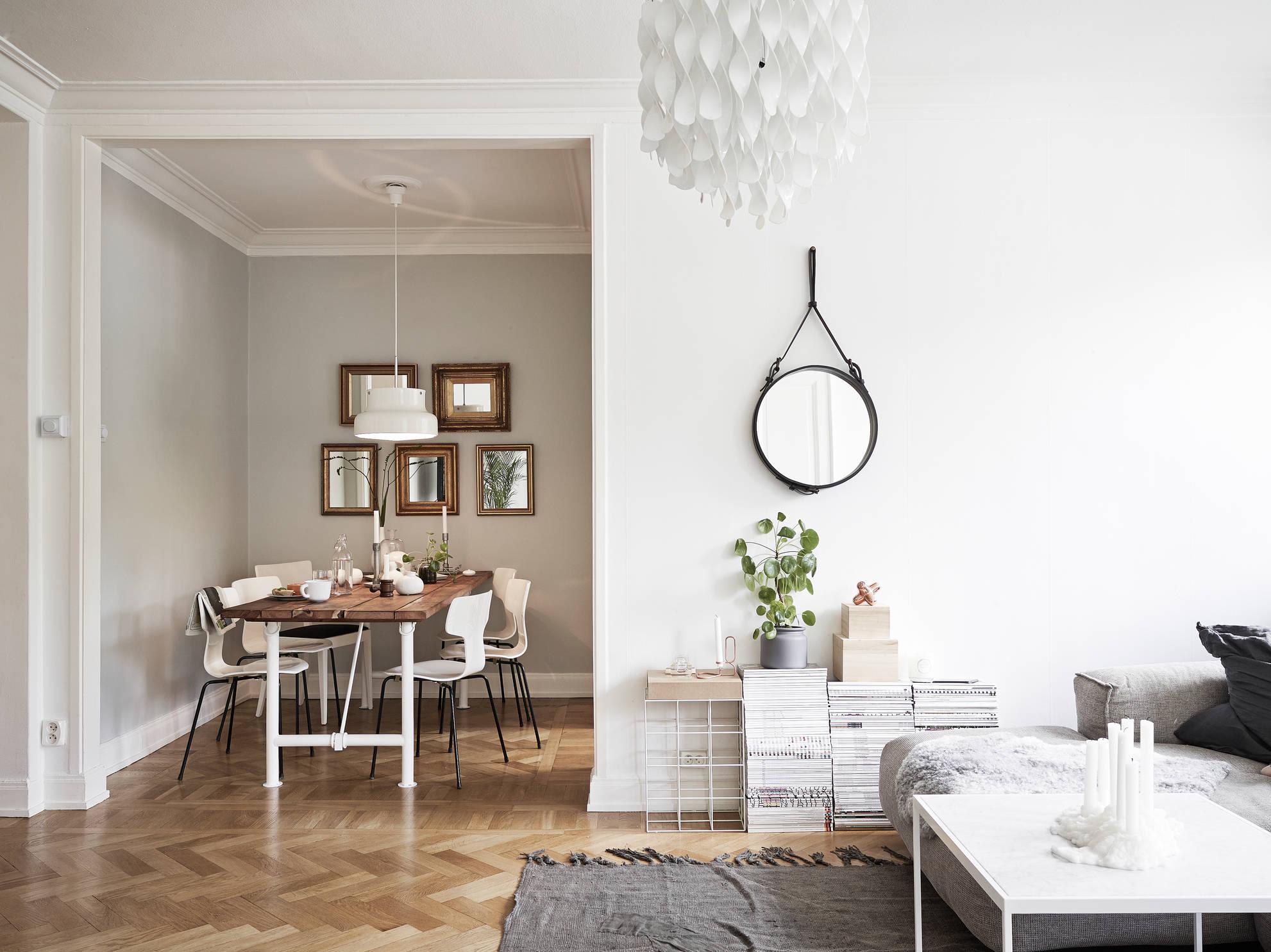 Weiß mit Holz - die perfekte Kombination