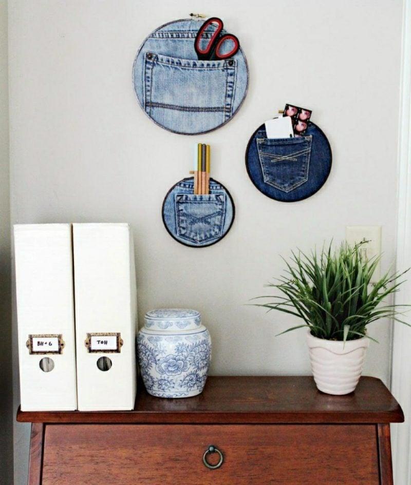 was kann man aus alten Jeans machen Dekorationen Wohnung