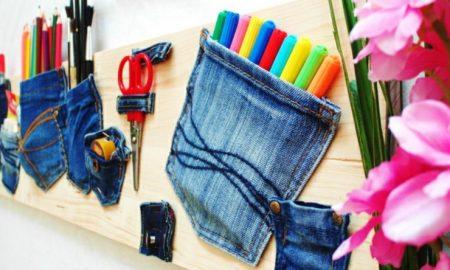was kann man aus alten Jeans machen Bastelideen