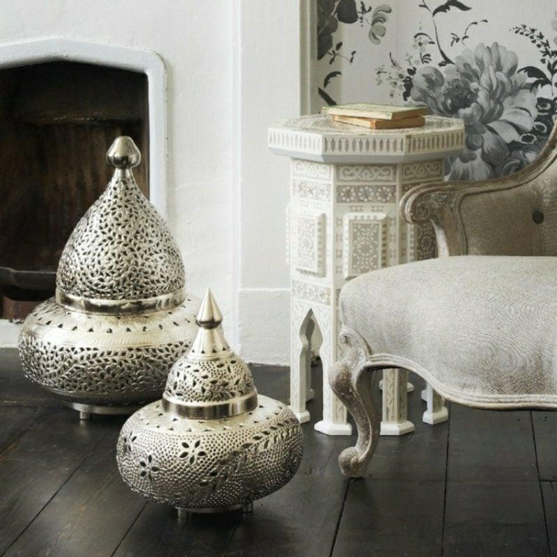 orientalische Lampen Bodenlampen aus Metall massiv