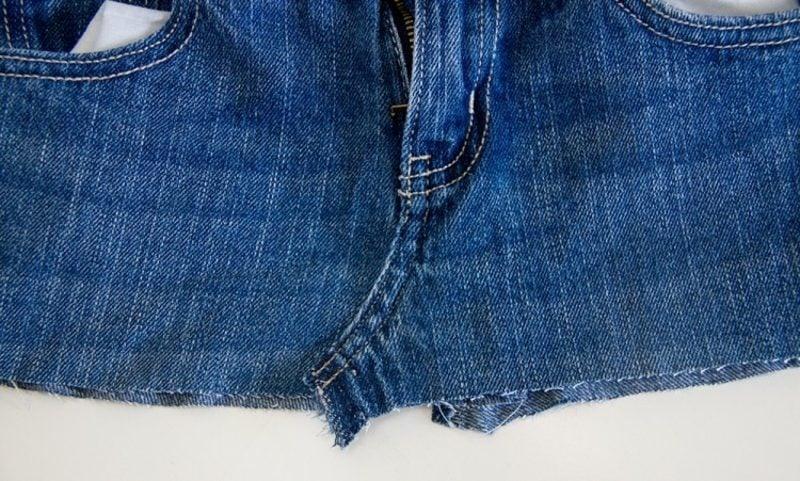 was kann man aus alten Jeans machen Rock Anleitung