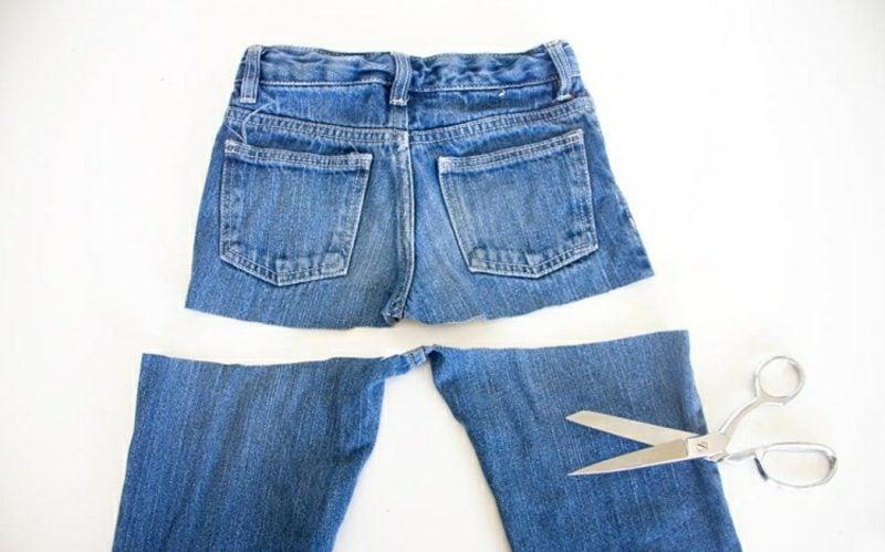 was kann man aus alten Jeans machen DIY Rock