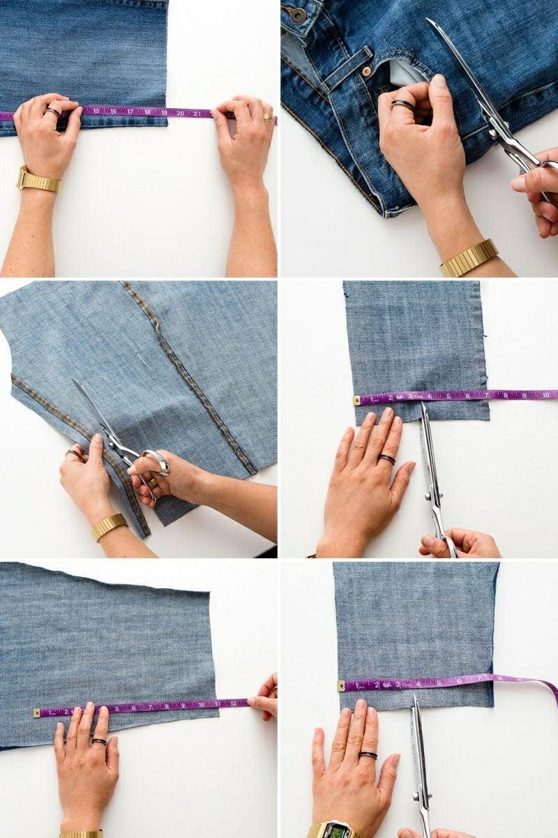 was kann man aus alten Jeans machen spannende DIY Ideen Tasche