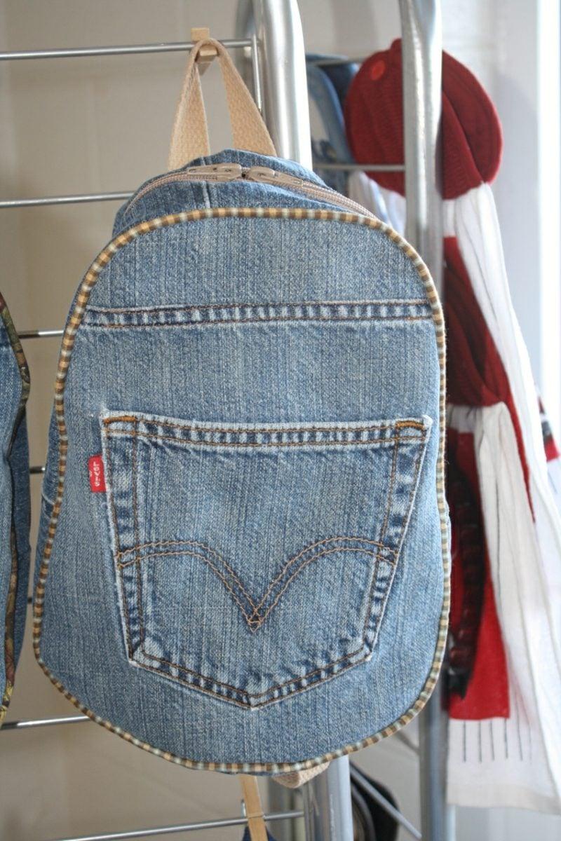 was kann man aus alten Jeans machen interessante Tasche