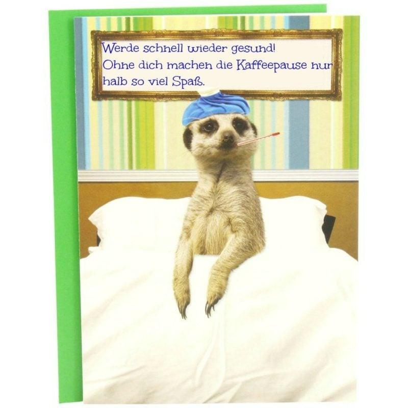 Genesungswünsche Kollege humorvoll Grusskarte