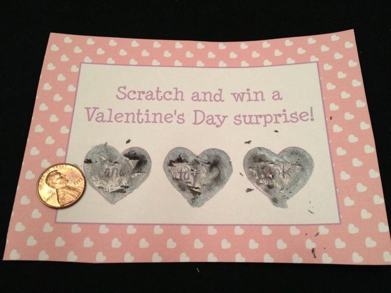Valentinstag Geschenke selber machen Rubbelkarte gestalten
