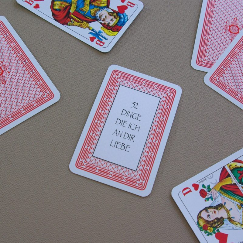 Valentinstag Geschenke selber machen Spielkarten