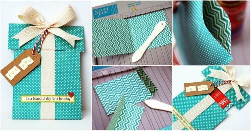 Gutschein basteln und verpacken originelle Box