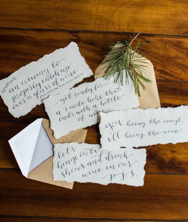 Gutschein basteln zu Weihnachten tolle DIY Ideen