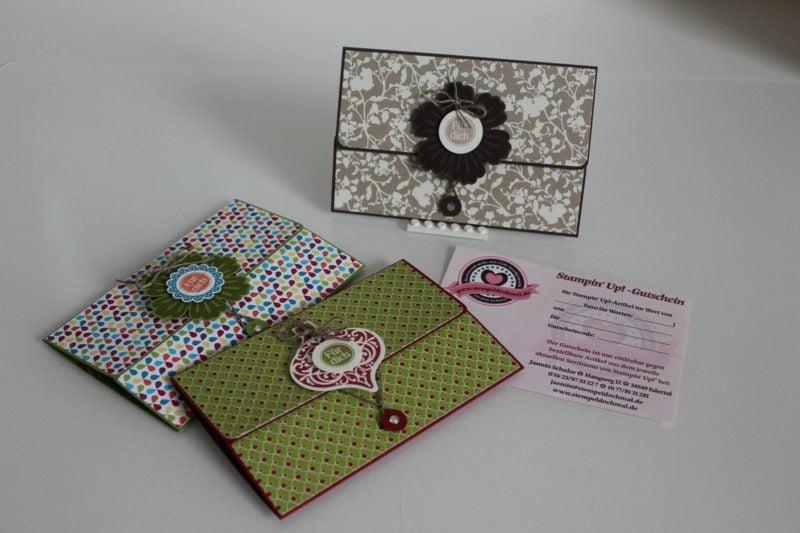 Gutschein basteln und originell verpacken