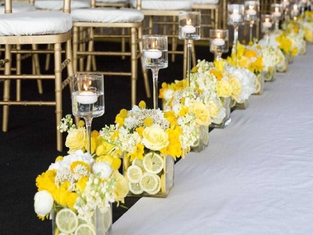 Hochzeit im Zitronengelb