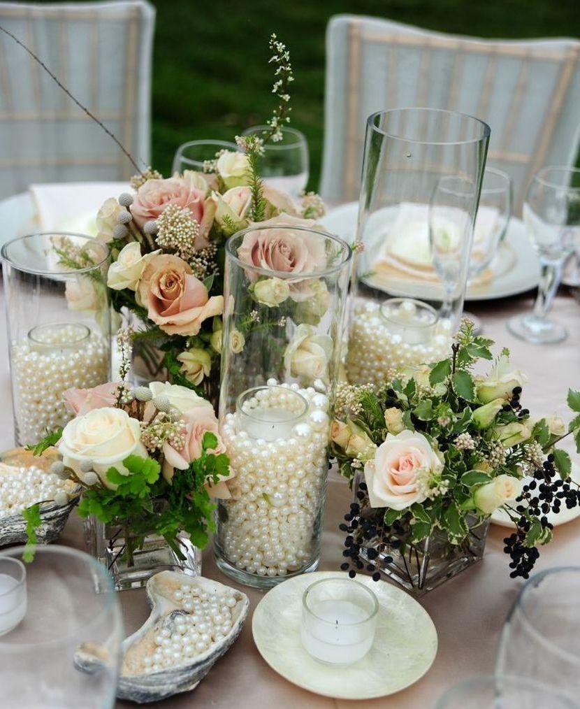 Rosen, Perlen und Kerzenschein