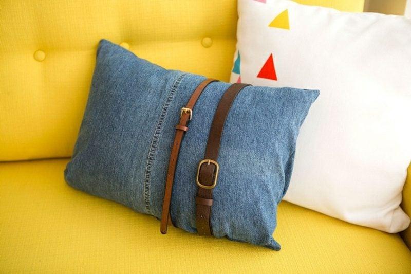 was kann man aus alten jeans machen inspirierende diy ideen. Black Bedroom Furniture Sets. Home Design Ideas