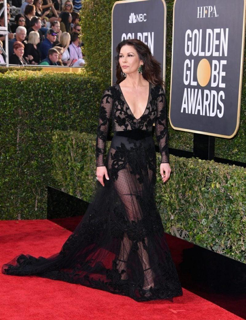 schwarze Kleider prachtvoll transparent Catherine Zeta Jones