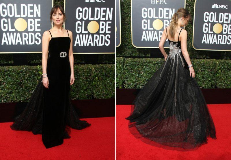 schwarze Kleider super elegant prachtvoll Dakota Johnson