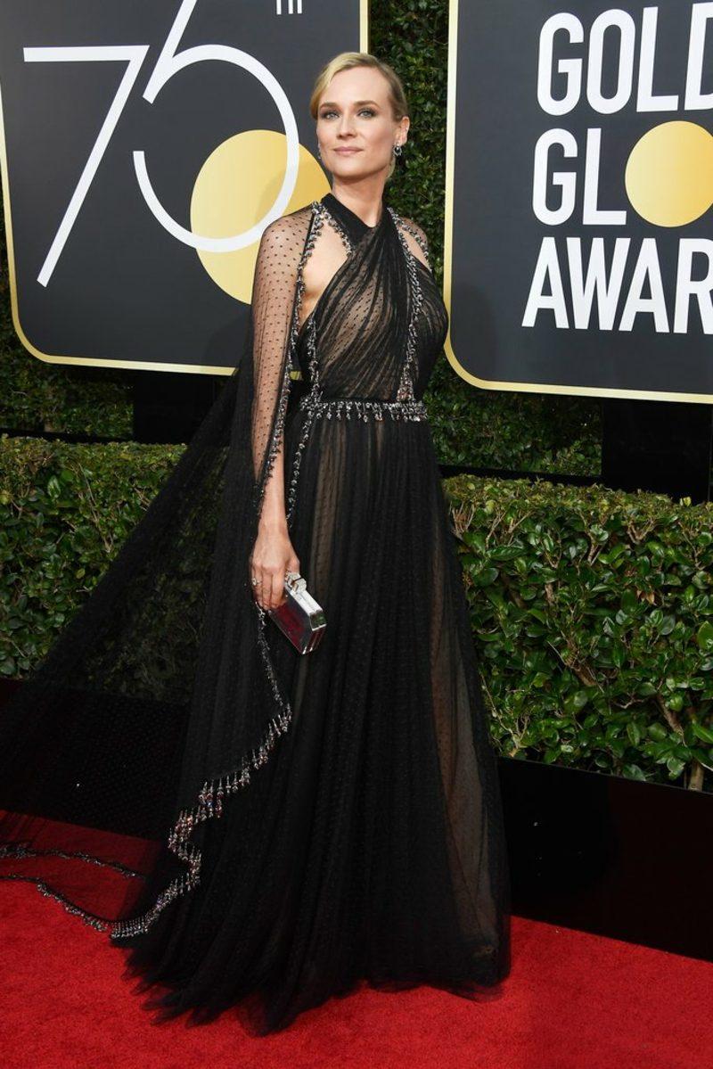 schwarze Kleider stilvoll Diane Kruger
