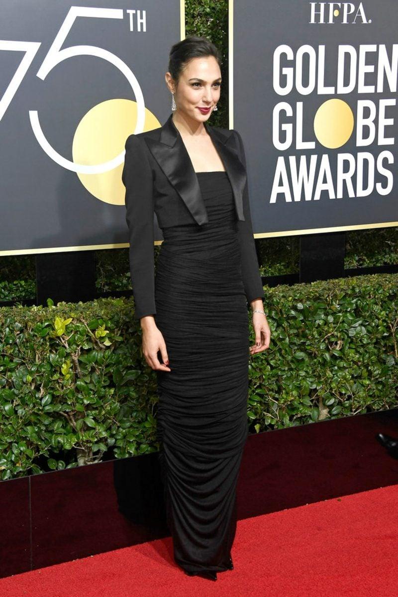 schwarze Kleider schlicht elegant Gal Gadot