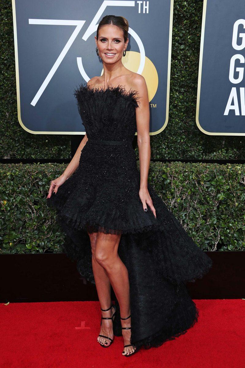 schwarze Kleider prachtvoll elegant Heidi Klum