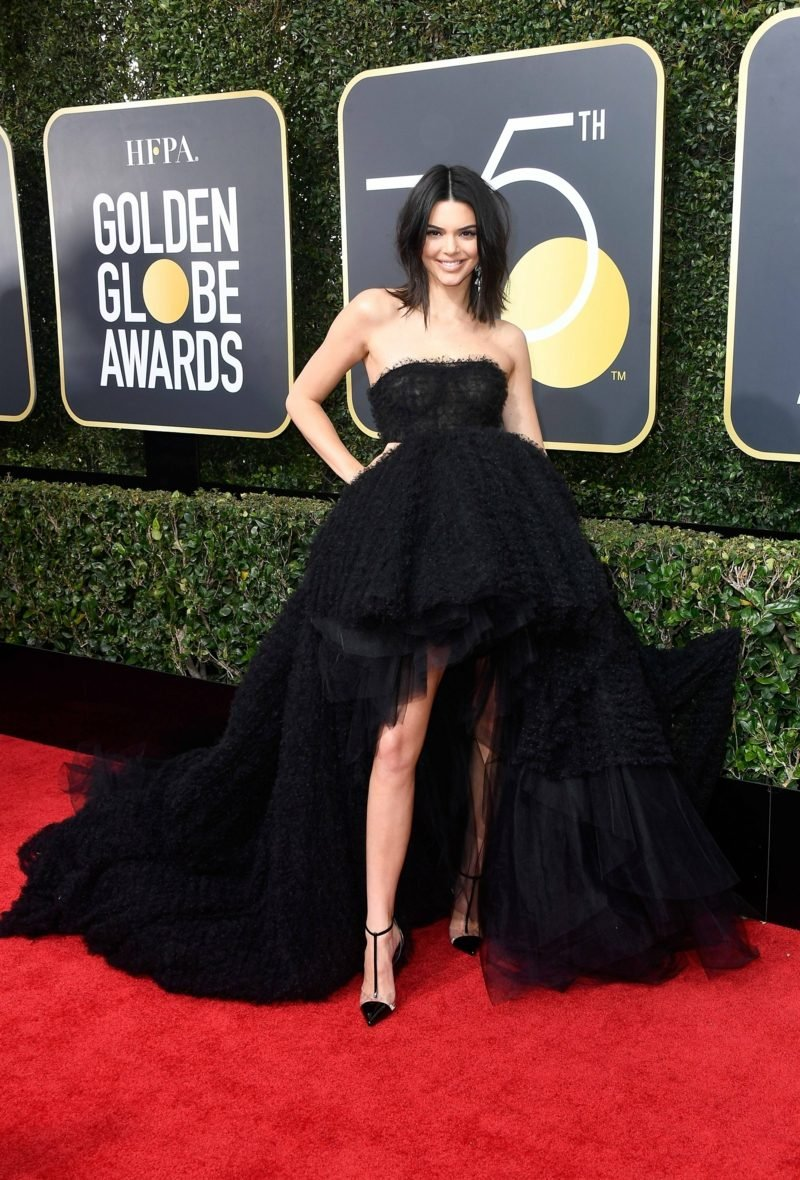 pachtvolle schwarze Kleider Kendall Jenner