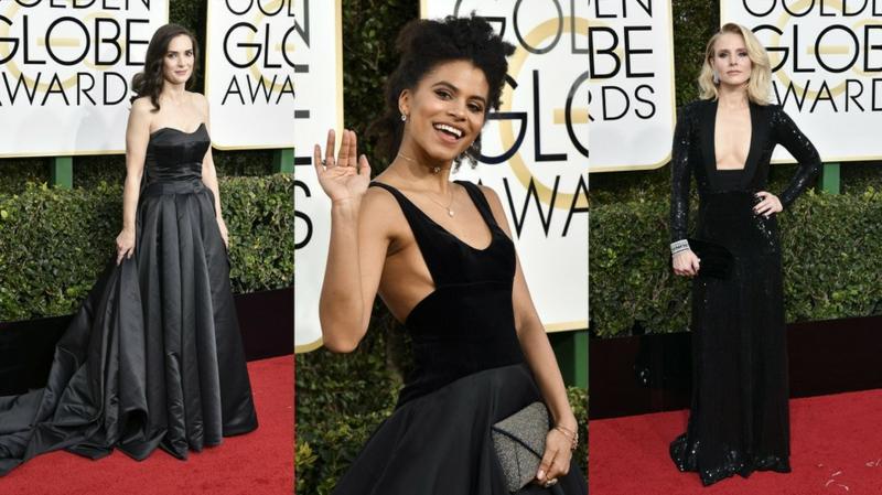 schwarze Kleider Golden Globes