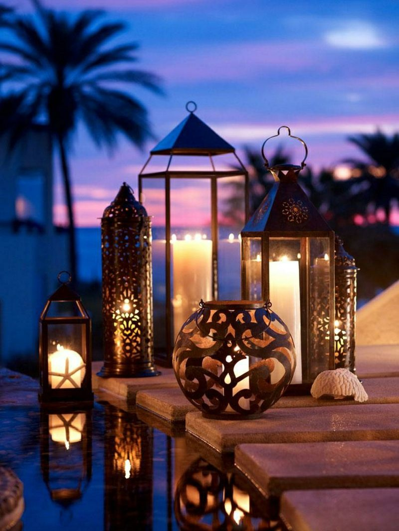 orientalische Lampen im Aussenbereich Garten