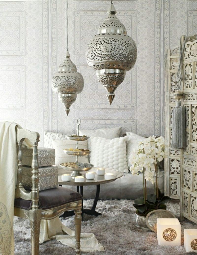 orientalische Lampen Metall prachtvoller Look