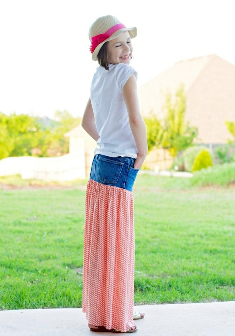 was kann man aus alten Jeans machen Sommerrock