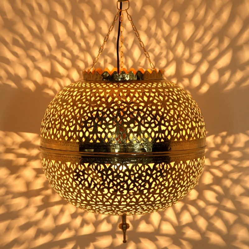 orientalische Lampen schaffen herrliche Lichtspiele