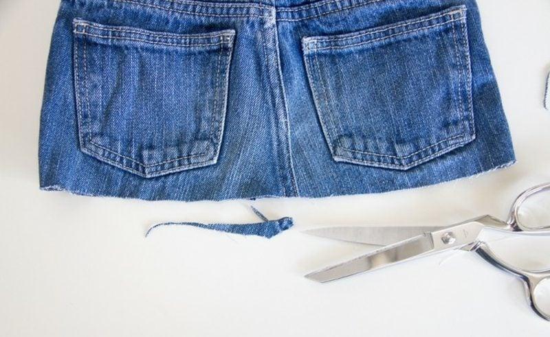 was kann man aus alten Jeans machen breiter Rock