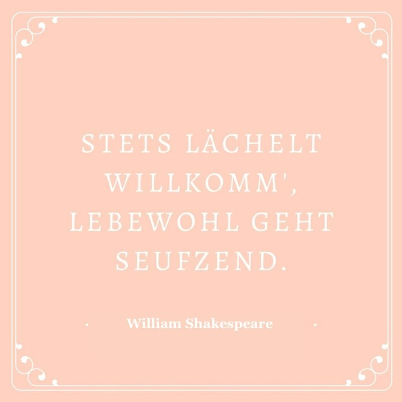 Shakespeare Zitate Leben tiefsinnig