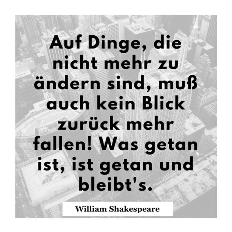 Shakespeare Zitate besinnlich Vergangenheit