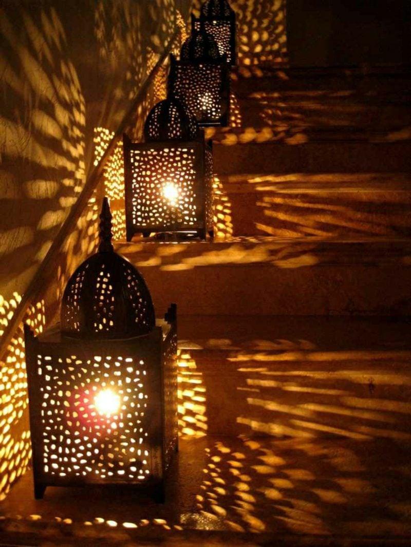 orientalische Lampen im Aussenbereich Laternen Terrasse