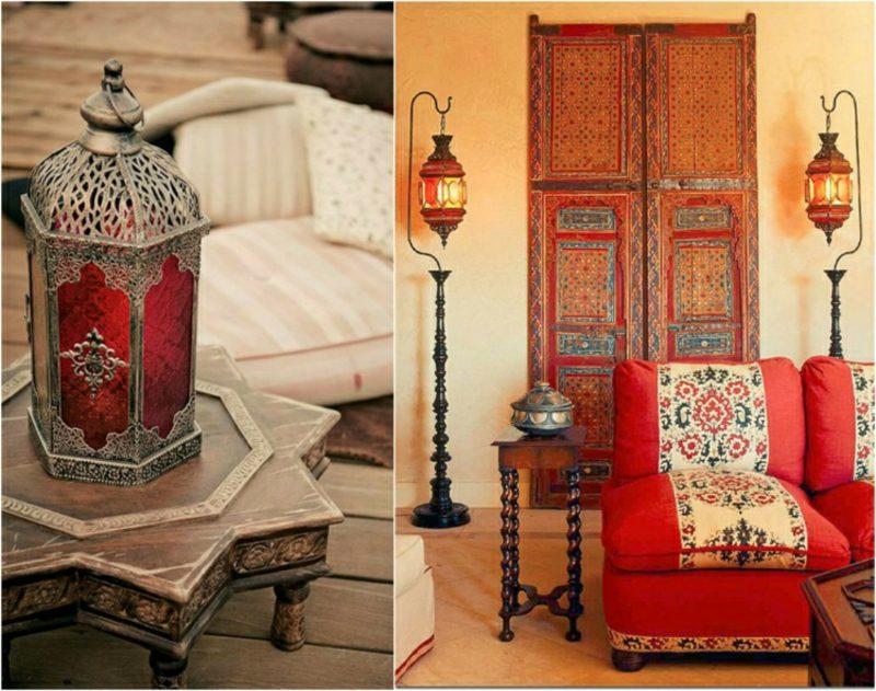 orientalische Lampen marokkanische Laternen Tisch