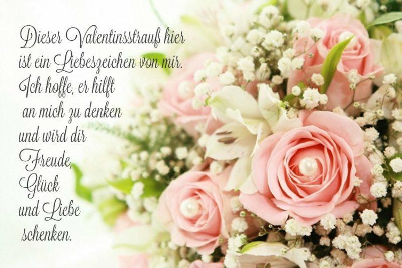 Valentinstag Sprüche Blumen Liebeszeichen
