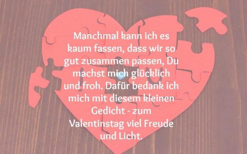 Valentinstag Sprüche Gedicht nett kurz