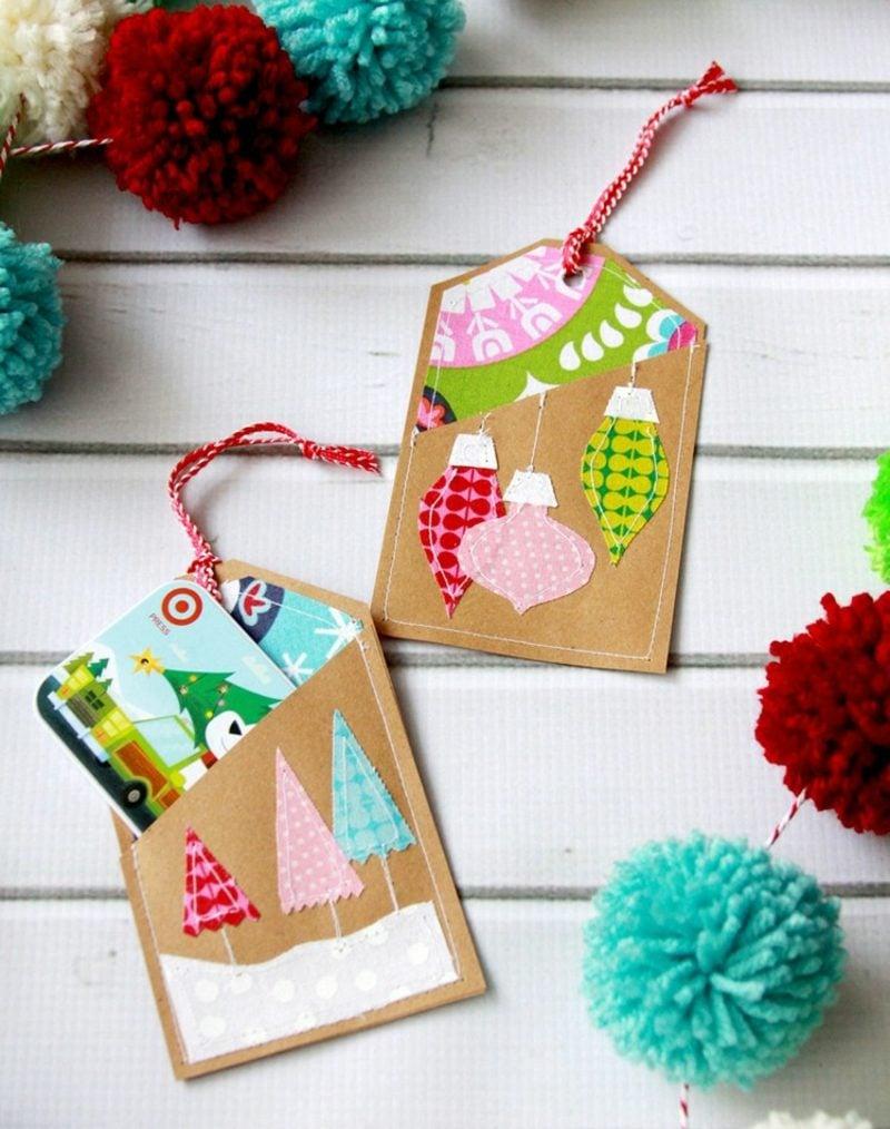 Gutschein basteln und verpacken Weihnachtsgeschenk