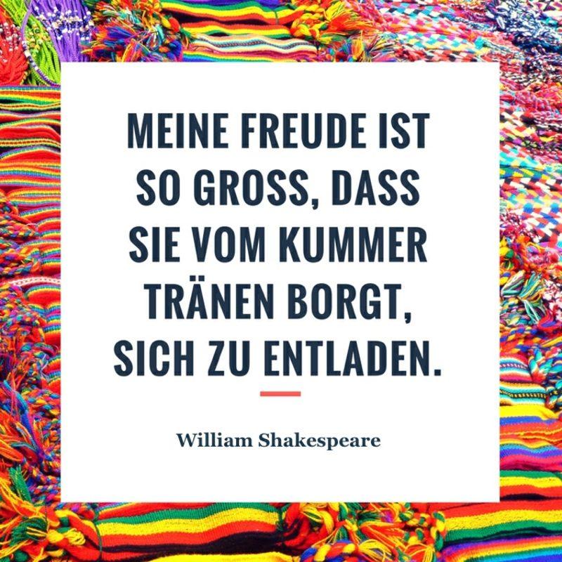 Shakespeare Zitate tiefsinnig Kummer Freude