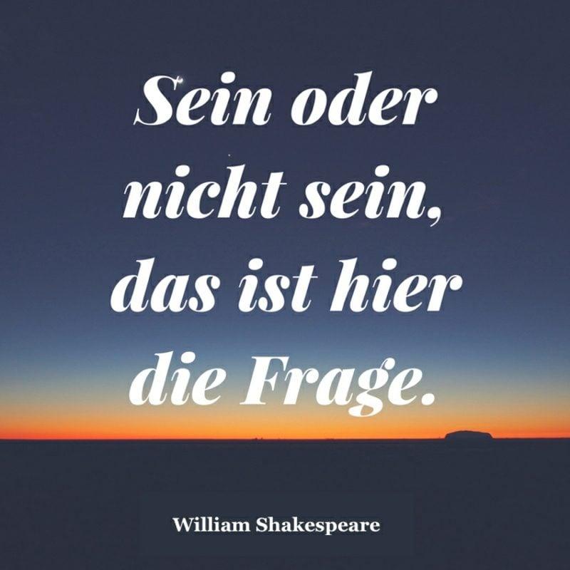 weltbekannte Shakespeare Zitate