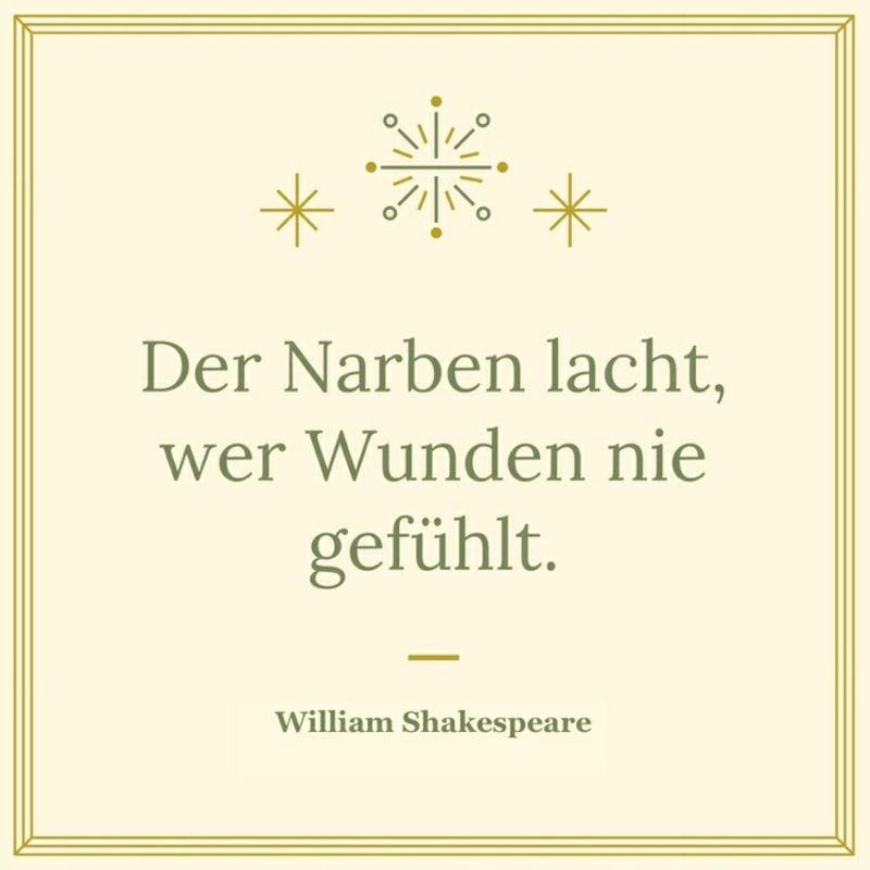 bekannte Shakespeare Zitate Narben Wunden