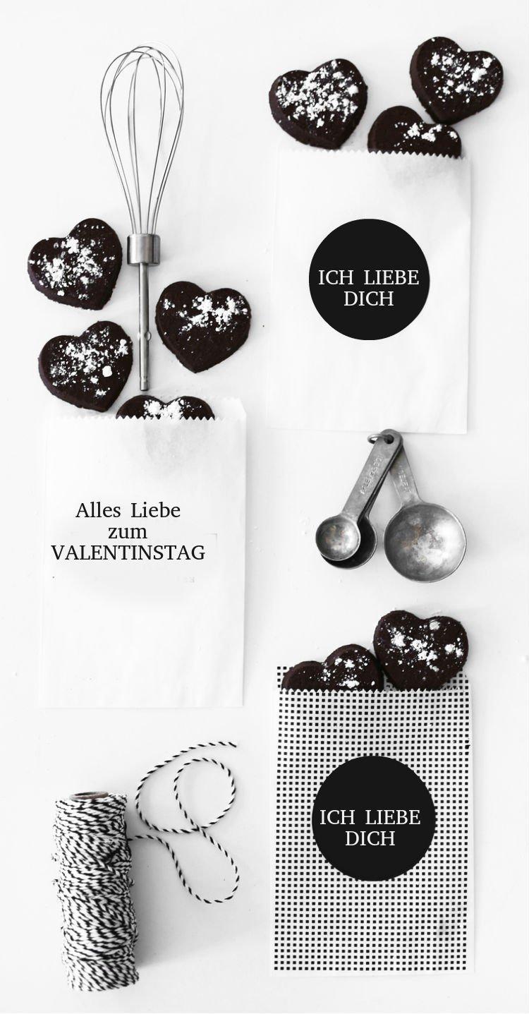 """Denken Sie minimalistisch! Bringen Sie echte Freunde ins Leben mit unseren Plätzchen """"Alles Liebe zum Valentinstag"""""""