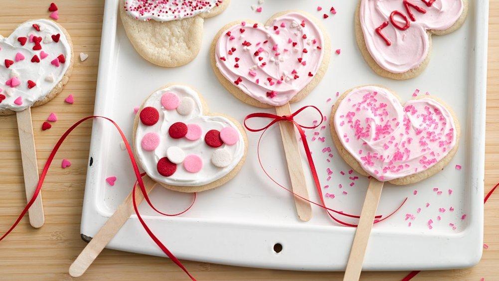 Hübsche Lutscher zum Valentinstag