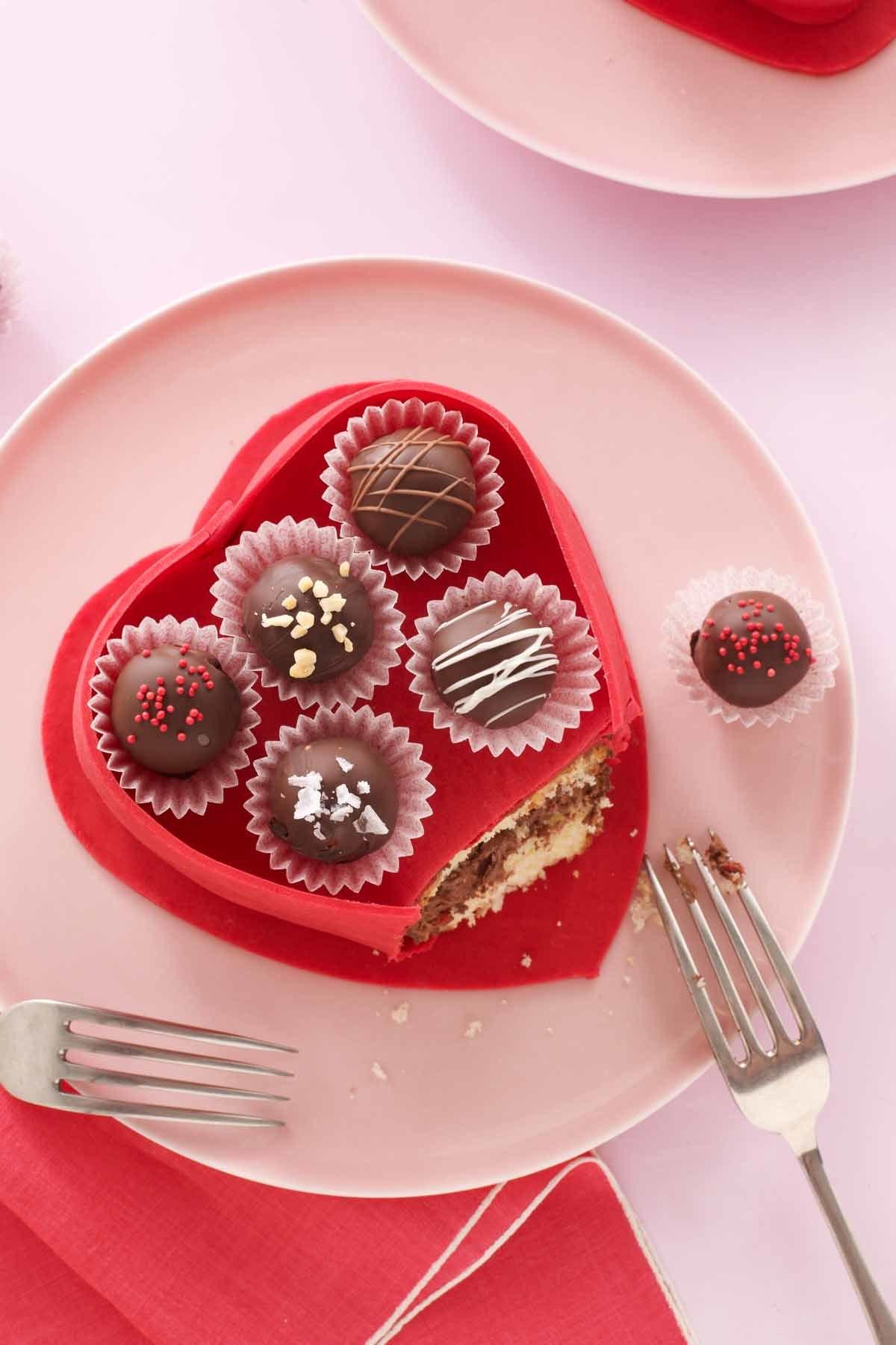 Ein köstlicher Kuchen zum Valentinstag